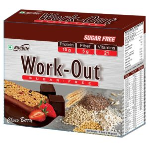 Work-Out Bar Sugar Free Meal Replacement - RITE BITE