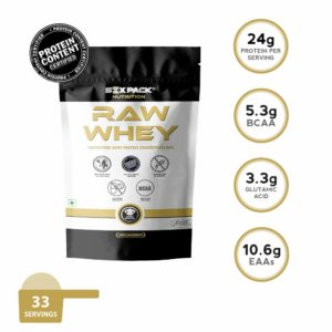 RAW WHEY Protein - SIX PACK NUTRITION
